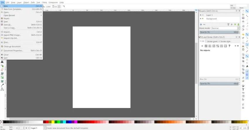 Letzte Inkscape-Zeichenfläche Adobe Illustrator-Zeichenfläche