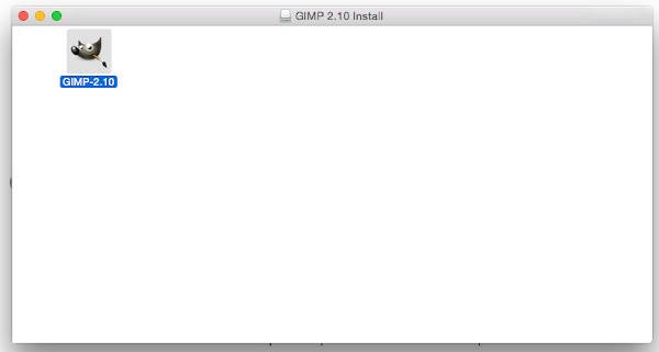 GIMP Applikatiounsdossier fir MAC