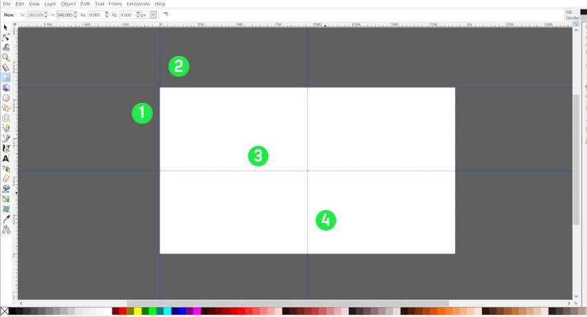 Guides Created Center Guide Tutorial Inkscape