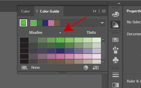 Illustrator Color Guide Tetrad 2 Harmony Rule