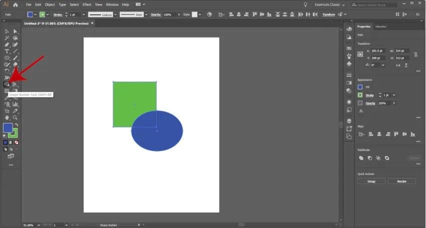 Illustrator Shape Builder Tool