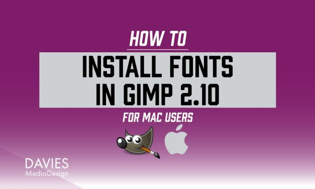 Lettertypen installeren in GIMP voor MAC