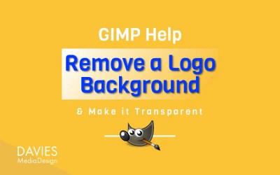 एक सफेद लोगो पृष्ठभूमि निकालें और इसे GIMP में पारदर्शी बनाएं