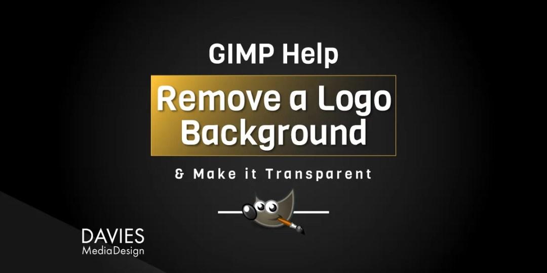 Hoe een witte logo-achtergrond in GIMP met kleur naar alfa te verwijderen
