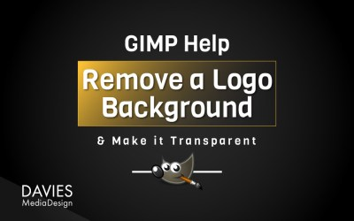 Remove a White Logo Background and Make it Transparent in GIMP