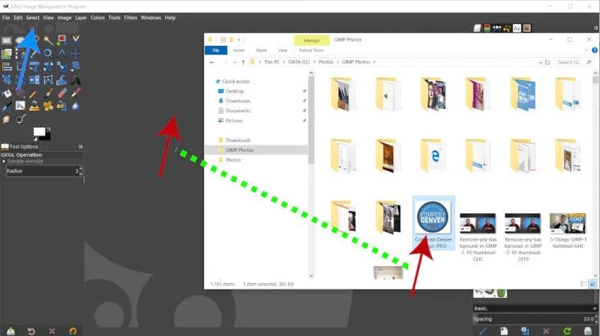 將帶有白色背景的徽標打開到GIMP中