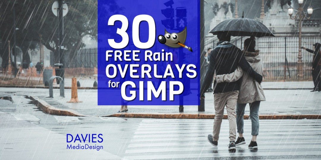 30 Free Rain Overlays for GIMP Download