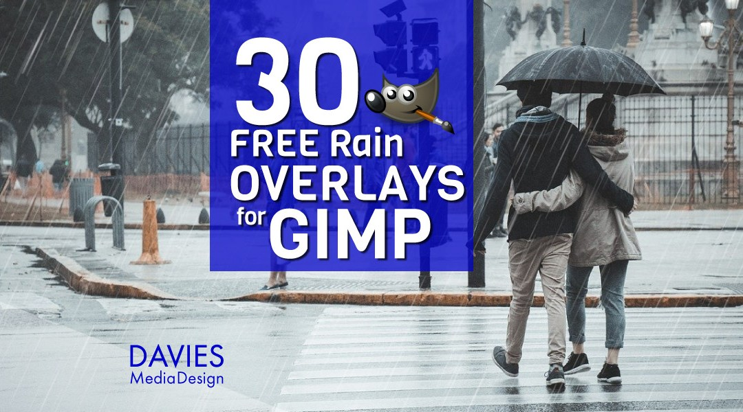 30 FREE Rain Overlays für GIMP in HD