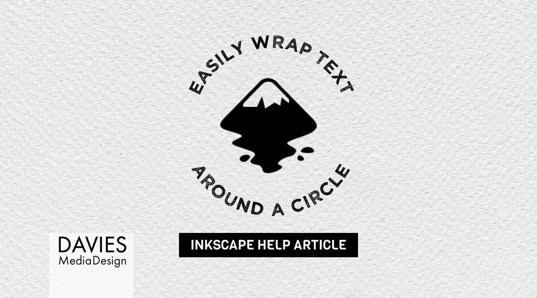 कैसे Inkscape में एक सर्कल के चारों ओर पाठ लपेटें