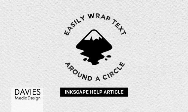 Sådan pakkes tekst omkring en cirkel i Inkscape