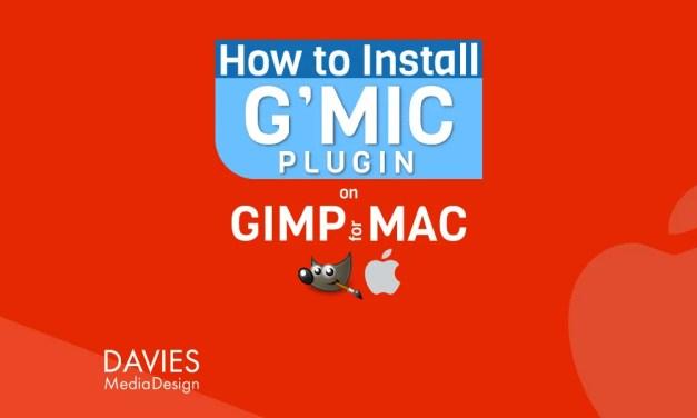 GIMP用G'MIC-QTプラグインをMACにインストールする方法