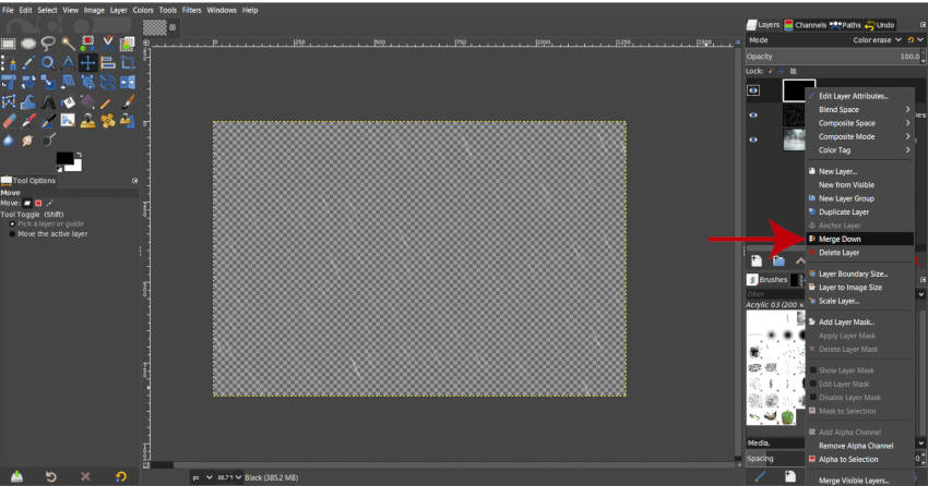 Spojite crno s kišom GIMP lekcije slike kiše