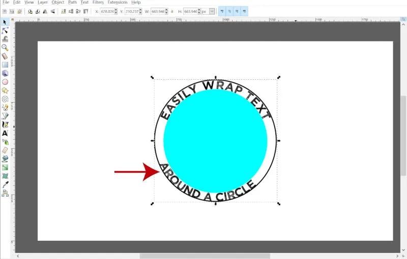 Reposition Ellipse i Inkscape