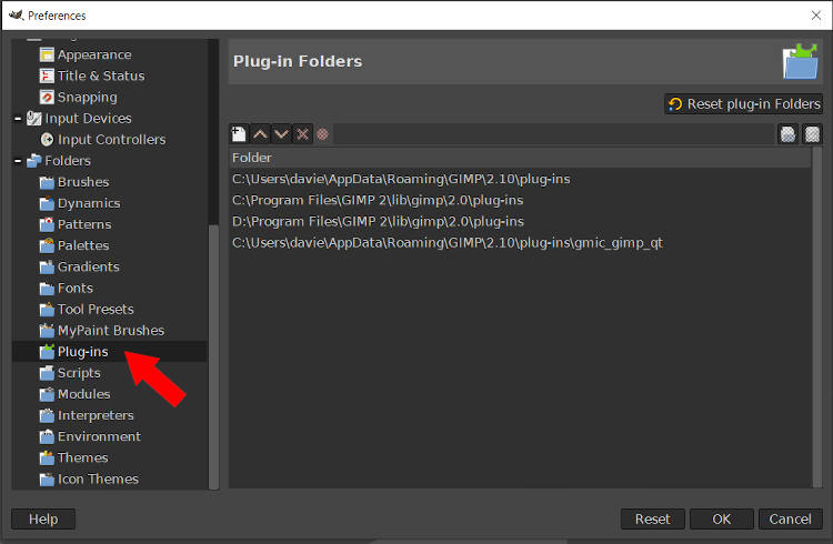 GIMP pistikprogrammi kaustade süntesaatori paigaldamise õpetus