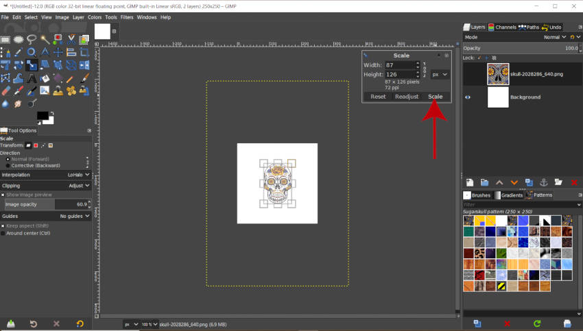 Scale Your Pattern Design in GIMP 2