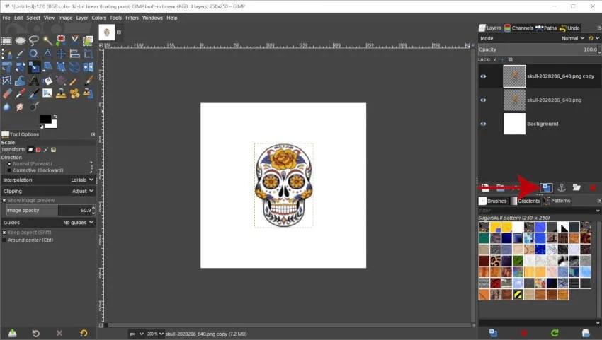 Acercar al diseño de patrones en GIMP