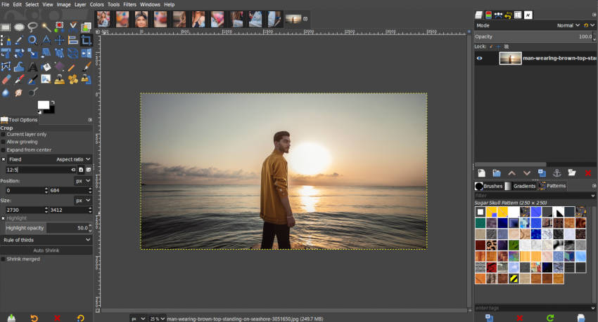 Méthode 2 sur XNUMX: diviser les photos pour Instagram dans GIMP