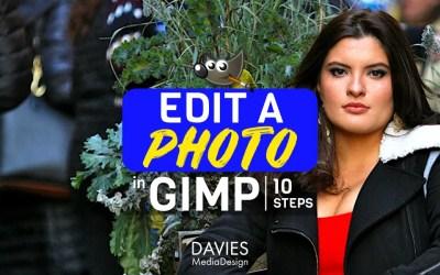 Cómo editar una foto en GIMP (10 pasos)