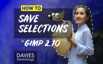 Cómo guardar selecciones en GIMP