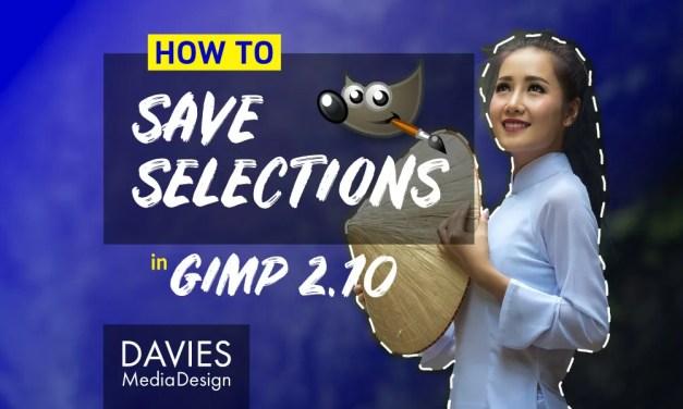 Wéi späichert Dir Selektiounen an GIMP