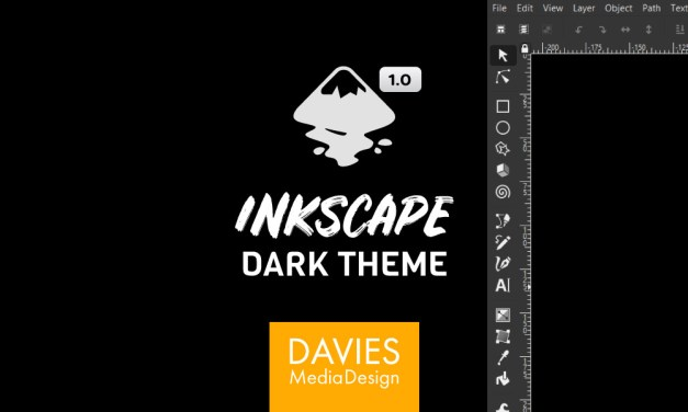 Inkscape 1.0 Dark Theme Set Up