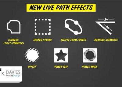 Inkscape 1.0 Nye Live Path Effects (LPE'er) forklaret i dybden