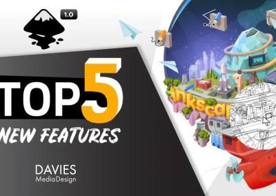 Az Inkscape 5 top 1.0 új funkciója