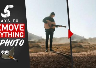 5 วิธีในการลบทุกอย่างออกจากภาพถ่ายใน GIMP