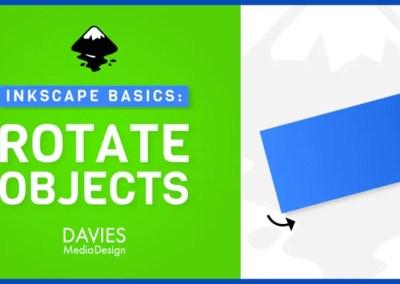 Objektide pööramine Inkscape 1.0-s (Inkscape'i põhitõed algajatele)