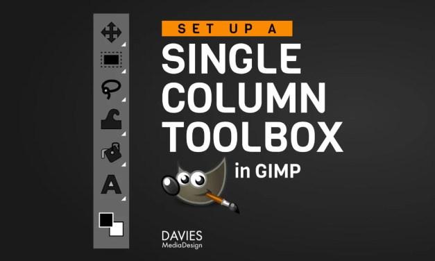 Wéi Dir Är Toolbox zu enger eenzeger Kolonn am GIMP maacht