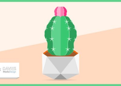 Flat Geometric Potted Plant Design in Inkscape