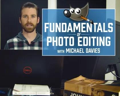 Fotoattēlu rediģēšanas pamati GIMP Davies Media Design Course