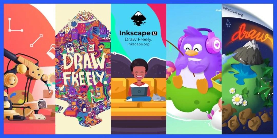 Inkscape 1.1 Par ekrāna konkursa rakstu