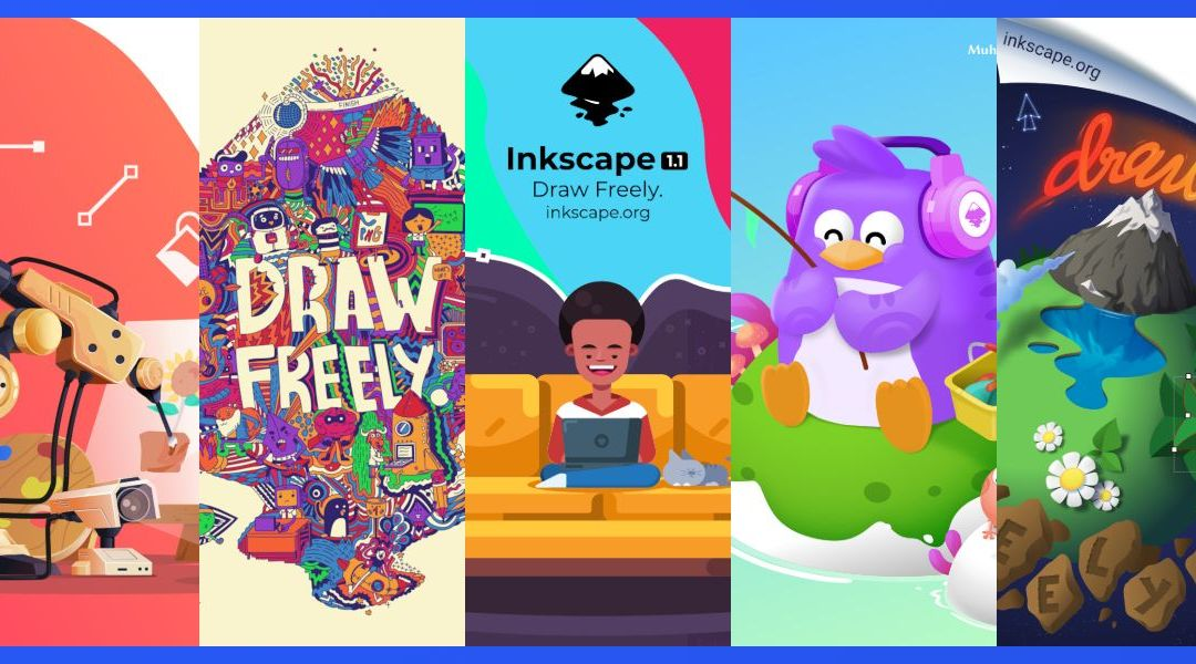 Inkscape Designers Stun with Incredible Artwork in Inkscape 1.1 About Screen Contest