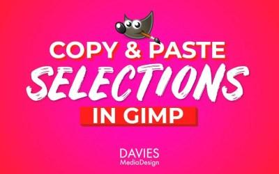 GIMPで選択範囲をコピーして貼り付ける方法