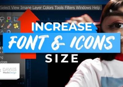 GIMPUIのフォントとアイコンのサイズを大きくする| あなたの目を緊張させるのをやめなさい!