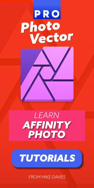 Affinity Photo oktatóanyagok a Pro Photo Vector-tól