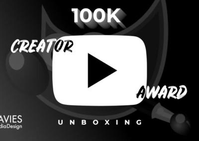 100K Buton de redare argintiu Video Unboxing live