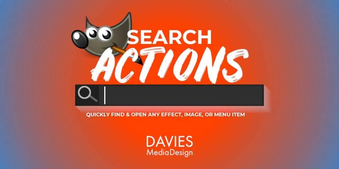 GIMP Search Actions Tutorial cu funcții
