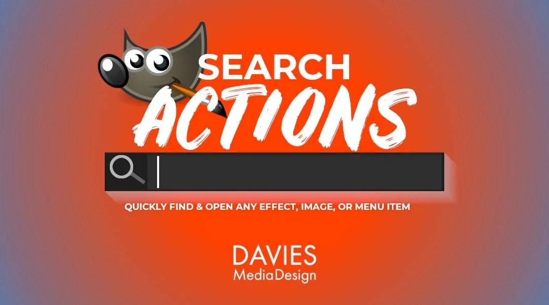 Karakteristikë e veprimeve të kërkimit GIMP | Gjeni dhe Hapni Shpejt Çdo Efekt, Imazh ose Artikull të Menysë