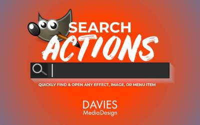 GIMP Search Actions Feature | Găsiți și deschideți rapid orice efect, imagine sau element de meniu