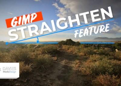 Straighten Crooked Photos with GIMP's Straighten Feature