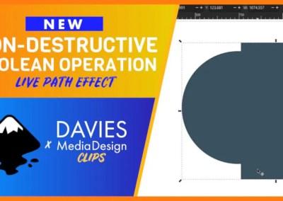 Noua operație booleană nedistructivă a lui Inkscape Efect de cale directă | Clipuri DMD