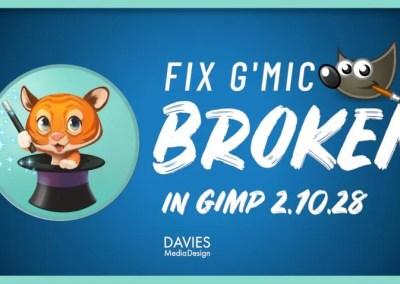 Perbaiki Plugin G'MIC Rusak untuk GIMP 2.10.28