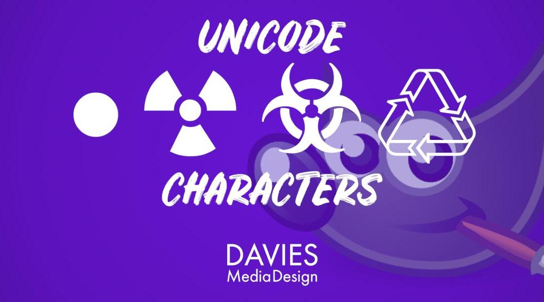 Create Unicode Characters for Text in GIMP (Bullet Points, Symbols, Icons)