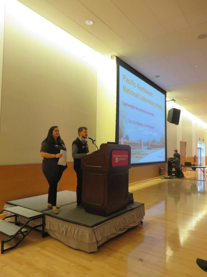 Photo of Davi and Robbie Zinna presenting at the Wiley Research Expo.