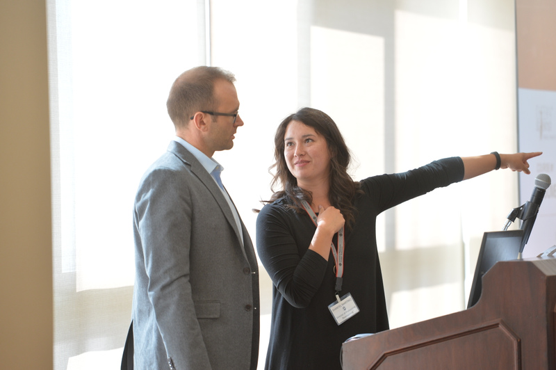 Photo of Dr. Hankel and Shantel looking at each other and smiling.