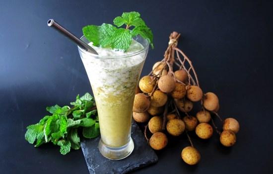 Minty Longan Green Tea Slushie