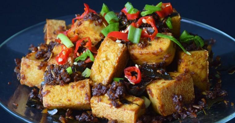 Kam Heong Sauce with Tofu 'Chicken'
