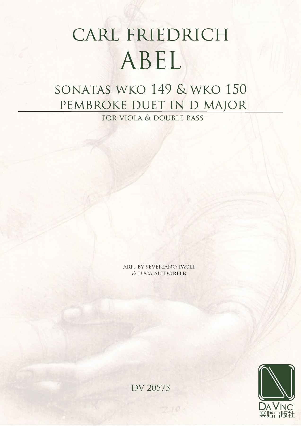 (Arr. By Severiano Paoli & Luca Altdorfer) DV 20576 24 Pages Neoclassic